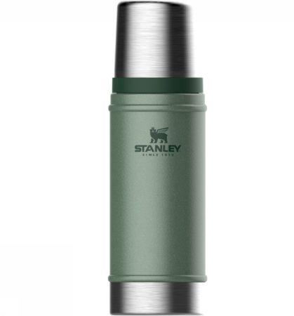 Afbeelding van Groene Stanley PMI Stanley Classic Vacuum Bottle 0,47L Updated! - thermosfles - Hammertone Green
