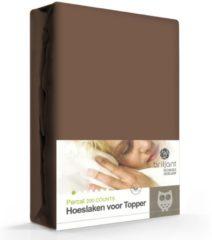 Briljant Topdeck Hoeslaken Percal Katoen Hazel - 140 x 200 cm