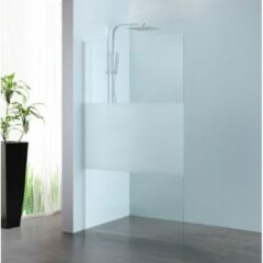 Royal Plaza Parri walk-in 100x200cm zilver profiel en deel matglas met clean coating 23785