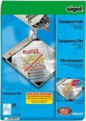 Inkjetfolie Sigel A4 transparant 50 vel stapelbaar