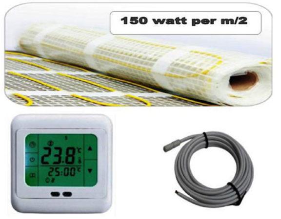 Afbeelding van Best Design Vloerverwarming Cheap elektrisch 1,5 m2 mat. incl. digitaal thermostaat