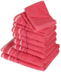 Rosa CLASS HOME COLLECTION Handtuchset XXL pink 10tlg.