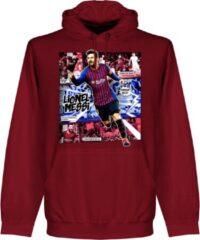 Bordeauxrode Retake Messi Barcelona Comic Hoodie - Bordeaux - S