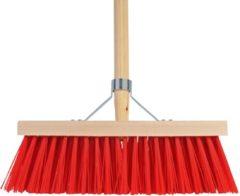 Rode Talen Tools TalenTools Bezem 35cm breed kunststof haren 140cm steel