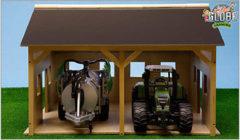Groene Bruder Kids Globe - Landbouwloods voor 2 Traktoren Hout - Speelfigurenset - 55 x 53 x 38 - Schaal 1:16 (610338)