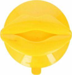 Hooks & Co Ophanghaak Lippen 7,5 X 6,5 Cm Pvc Geel