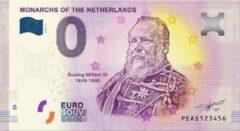 Paarse 0 Euro Biljet 2020 - Vorsten van Nederland - Koning Willem III