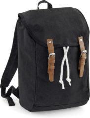 Zwarte Quadra Vintage Rugzak-Backpack Zwart