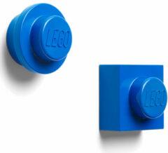 Blauwe LEGO Iconic Magneten - Set van 2 Stuks - �7 cm