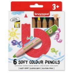 Koninklijke Talens B.V Bruynzeel Kids 6 extra zachte kleurpotloden met slijper