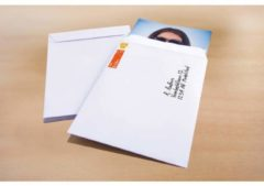 Akte envelop Raadhuis 229x324mm C4 wit gegomd krimp a 10 stuks
