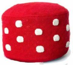 Anne Claire Petit Anne-Claire Petit Dots Poef rood