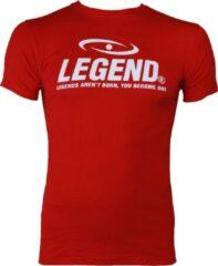 Legend Sports Logo T-shirt Rood Maat Xxl