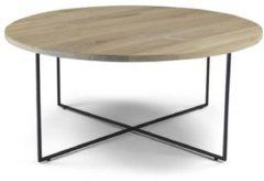 Spinder Design Salontafel Dress 79 X 33,5 Cm Hout/staal Bruin