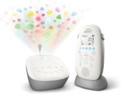 Witte Philips Avent DECT babyfoons SCD733/26, met slaapliedjes, sterrenhemelprojectie, Smart ECO-modus