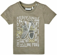Kaki T-shirt Korte Mouw Ikks XS10141-57