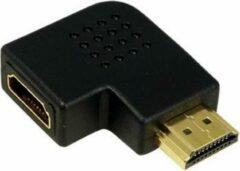 Zwarte LOGILINK - Adapter - AH0008 - HDMI (F) > HDMI (M) - 90 graden plat