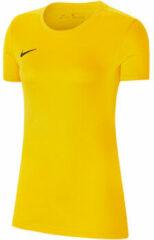 Gele T-shirt Korte Mouw Nike Dry Park VII SS Jersey Women