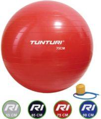 Tunturi Fitnessbal- Gymball - Swiss ball - 75 cm - Incl. pomp - Rood