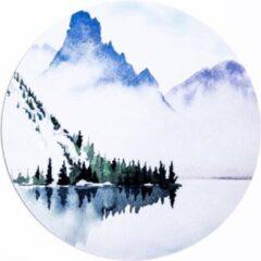 Paarse Moodadventures | Muismatten | Muismat Rond Snow Mountains | Rubber | 20x20