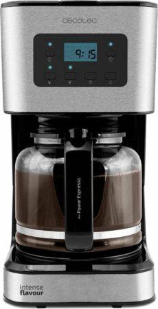 Afbeelding van Zwarte Cecotec Koffiezetapparaat filterkoffie - Programmeerbaar - Warmhoudfunctie - Koffiemachine met LCD display - 1,5L