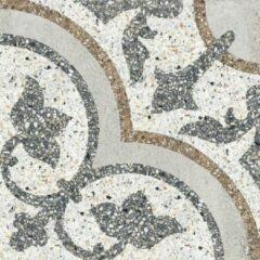 Paul & Co Ceramiche Terrazzo vloertegel 25x25cm gerectificeerd Vintage Casale Siena grigio Mat SW07310365-3