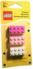 LEGO 852734 gummetjes (wit, lichtroze, donkerroze)
