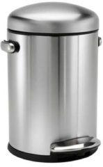 Witte Afvalemmer Retro - 4,5 Liter - Zilver - Simplehuman