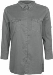 Antraciet-grijze Zoso Marloes dames blouse