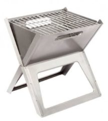 Roestvrijstalen Bo-Camp Barbecue notebook-vuurkorf medium / Houtskool Barbecue