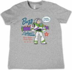 Disney Toy Story Kinder Tshirt -Kids tm 8 jaar- Buzz Lightyear - To Infinity And Beyond Grijs
