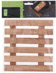 Naturelkleurige Tom Pannenonderzetter 17,5 X 18 Cm Bamboe Naturel