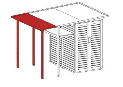Afbeelding van Rode WEKA | Tuin[Q]® Multi-uitbreiding | Family Module | Zweeds rood
