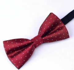 Tailor Ties Vlinderdas Rood Dotted