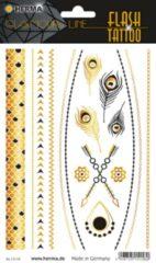 """Witte HERMA FLASH Tattoo """"juwelen"""", goud en zilver"""