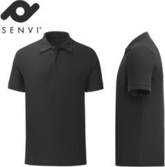 Fruit of the Loom Senvi - Fit Polo - Getailleerd - Maat XXL - Kleur Zwart