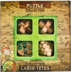 Eureka 3D Puzzle breinbrekerset Junior Wooden 4-delig groen