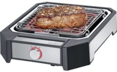 Roestvrijstalen Severin PG 8545 Steak Electric grill corded Black, Silver