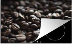 KitchenYeah Luxe inductie beschermer Macro Eten - 80x52 cm - Close-up van donkere koffiebonen - afdekplaat voor kookplaat - 3mm dik inductie bescherming - inductiebeschermer