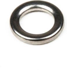 Grijze Owner Solid Ringen - Ring - Maat 7.5 - Zilver