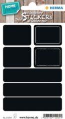 HERMA 15094 Afgeronde rechthoek Permanent Zwart 14stuk(s) etiket