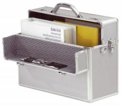 Juscha *koffer Alumaxx Alpha aluminium zilver, afneembare schouderriem, 2 cijfer- en