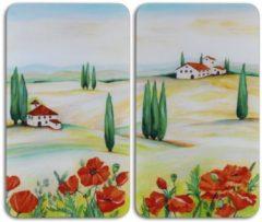 WENKO Herdabdeckplatte »Universal Toscana« 2er Set, für alle Herdarten
