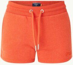 Oranje Superdry High waist slim fit korte joggingbroek met logoborduring
