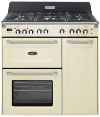 Boretti CFBG903OW gasfornuis met Dual Fuel wokbrander en drievoudige oven