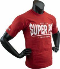 Super Pro Combat Gear Super Pro T-Shirt S.P. Logo Rood/Wit 140