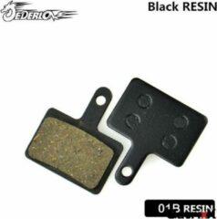 Zwarte Qatrixx Set van 2 remblokken voor schijfrem compatible met Shimano B01S
