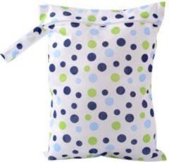 Blauwe Merkloos / Sans marque LeuksteWinkeltje opbergzakje Stippen 39 x 28 cm opbergtasje voor natte dingen voor luiertas baby of onderweg luierzakje wetbag