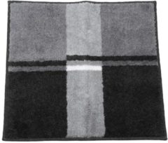 GRUND Badteppich, anthrazit, gestreift, 55 x 60 cm