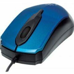Manhattan Edge USB Optisch 1000DPI Zwart, Blauw Ambidextrous